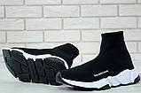Женские кроссовки Balenciaga Speed Trainer в стиле Баленсиага Спид Трейнер ЧЕРНЫЕ (Реплика ААА+), фото 5