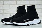 Женские кроссовки Balenciaga Speed Trainer в стиле Баленсиага Спид Трейнер ЧЕРНЫЕ (Реплика ААА+), фото 3
