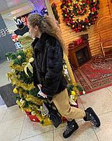 Женский норковый полушубок натуральная канадская норка украинский производитель с гарантией XL