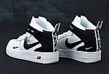 Кросівки жіночі Nike Air Force 1 MID '07 LV8 в стилі найк форси білі (Репліка ААА+), фото 2