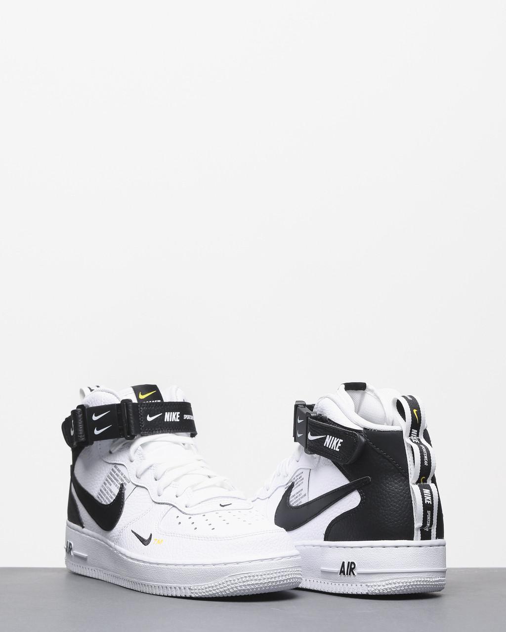 Кросівки жіночі Nike Air Force 1 MID '07 LV8 в стилі найк форси білі (Репліка ААА+)