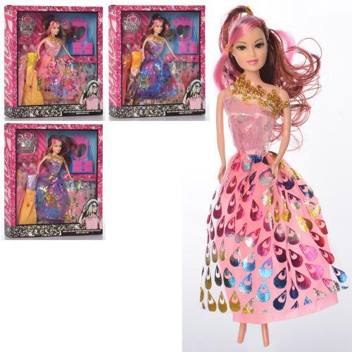 Детская кукла с платьями 28 см (1054B-1)