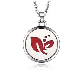 """Медальон для ароматерапии""""Лист"""" с блоттером."""