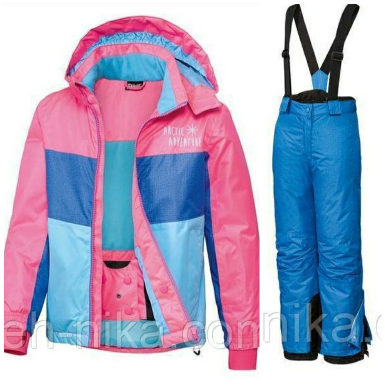Лыжный костюм для девочки (разноцветная куртка и синие штаны) Crivit р.134/140