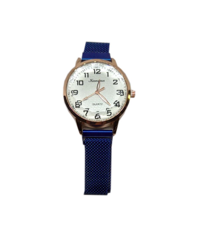 Часы кварцевые  Kanima на браслете с магнитом.  Синий опт