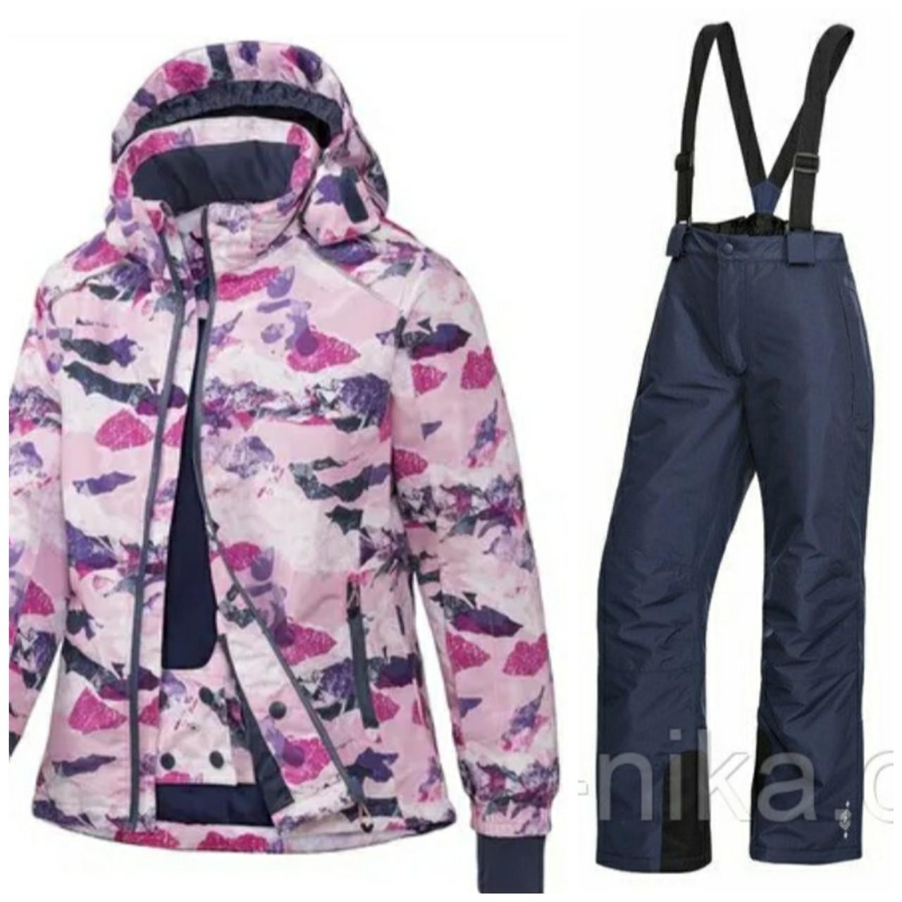 Лыжный костюм для девочки (разноцветная куртка и синие штаны) Crivit р.134/140см