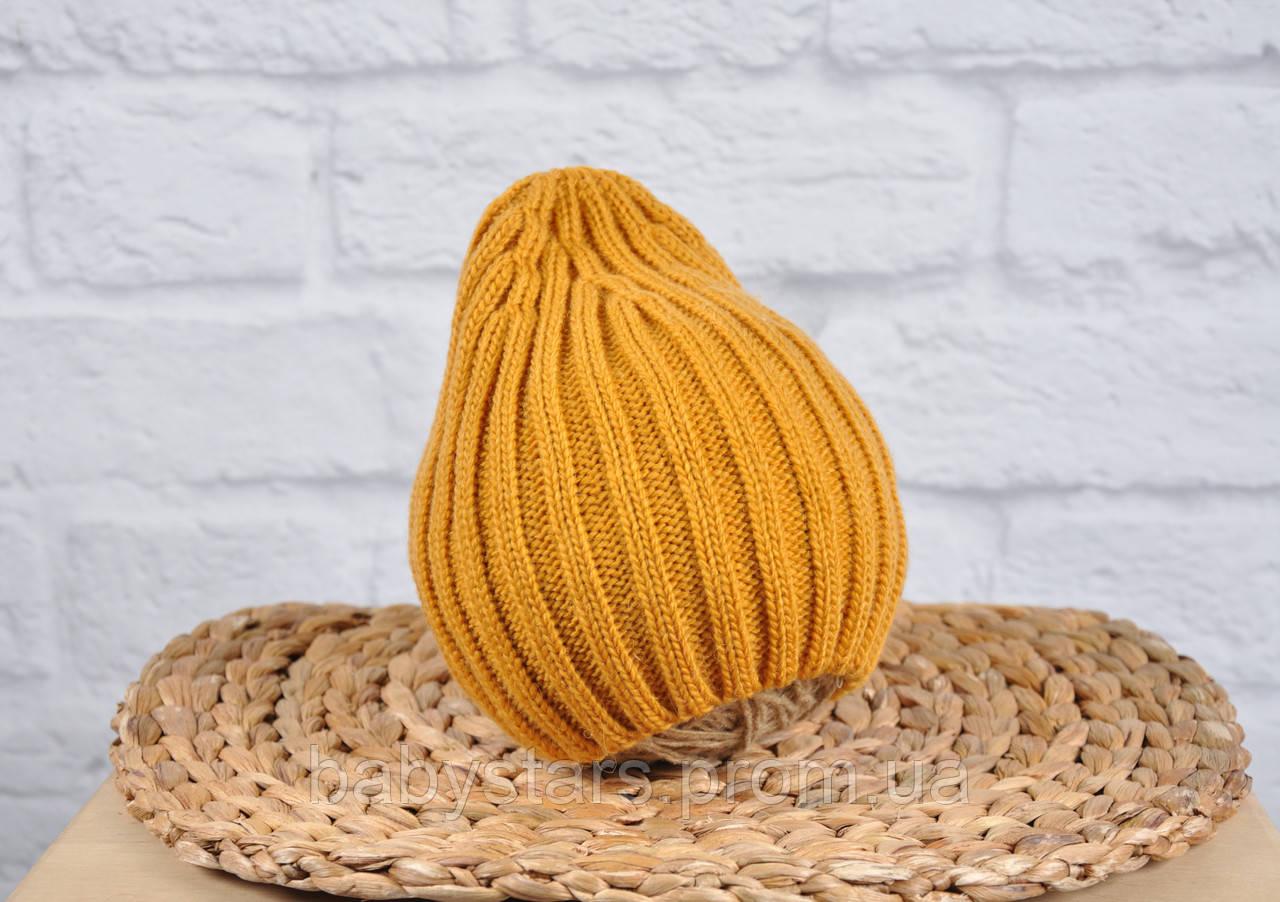 """Теплая вязаная шапочка для ребенка """"Alen"""", размер:42-46; 46-50; 50-54"""