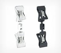 Универсальный ценникодержатель с прищепками, малый FXS-DBL, ножка - 100 мм