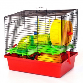 Клетка Вилла Люкс 3 335х225х325 мм (краска) для грызунов, Лори