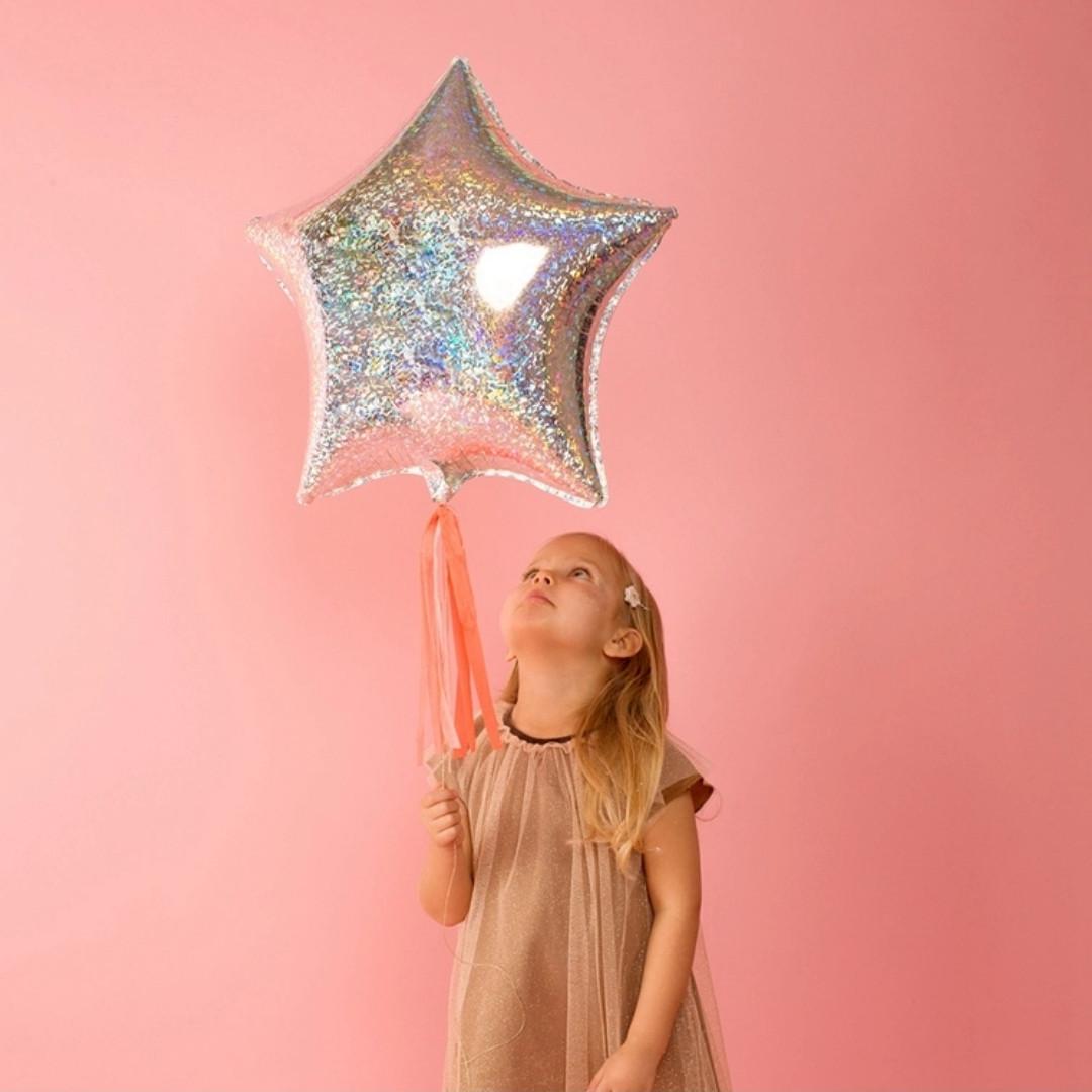 Фольгований повітряна кулька Цукерка червона 45х55 см