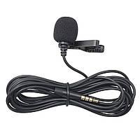 🔥✅  Микрофон петличка проводная We-Media M-01, петличный микрофон для телефона, камеры   мікрофон петлічка