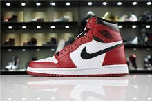 Кроссовки мужские Nike Air Jordan High OG в стиле найк джордан КРАСНЫЕ (Реплика ААА+)