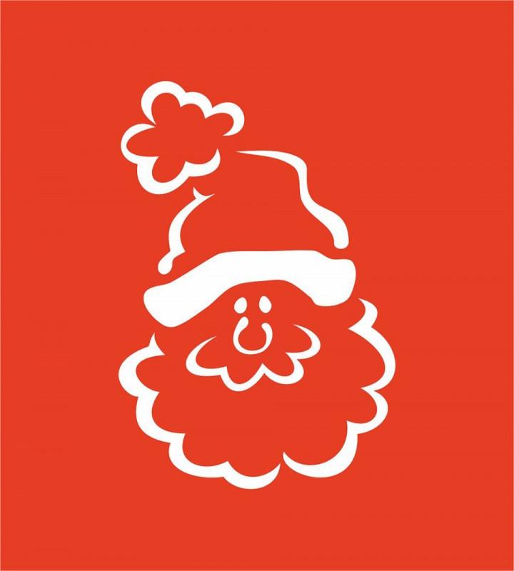 """Трафарет """"Дед Мороз"""" №24 9*10(код 04470)"""