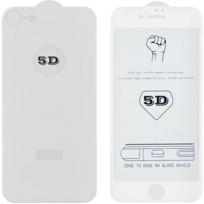 Защитное стекло 5D Premium для iPhone 6, 6s белое