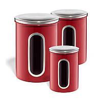 Набор контейнеров для сыпучих продуктов, 3 шт.(2 л / 1,4л / 0,8 л)