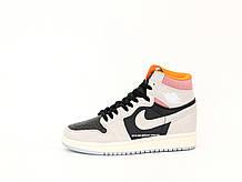 Кроссовки мужские Nike Air Jordan High OG в стиле найк джордан ЧЕРНЫЕ (Реплика ААА+)