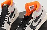Кроссовки мужские Nike Air Jordan High OG в стиле найк джордан ЧЕРНЫЕ (Реплика ААА+), фото 5