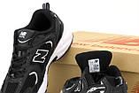 Женские кроссовки New Balance 530 в стиле нью беланс Черные (Реплика ААА+), фото 6