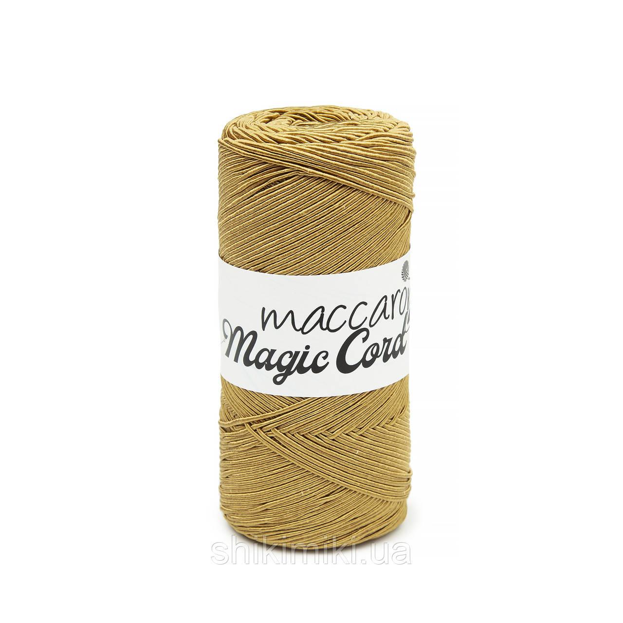 Шнур сутажний Maccaroni Magic Cord, колір Гірчичний