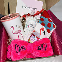 """Подарок бокс для девушки WOW BOXES """"Wow Фламинго"""""""