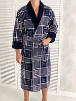 Мужской махровый халат хлопок XL, XXL, 3XL, 4XL,