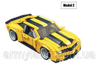 Желтый трансформер Бамблби и машинка (2в1) конструктор Аналог Лего, фото 3