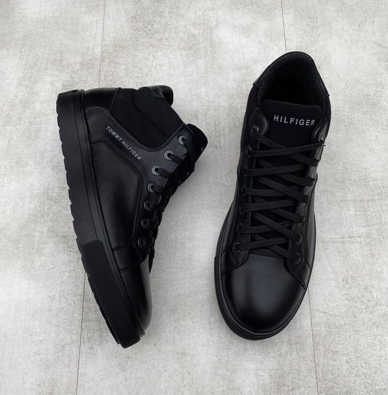 Мужские зимние ботинки Tommy Hilfiger H1171 черные