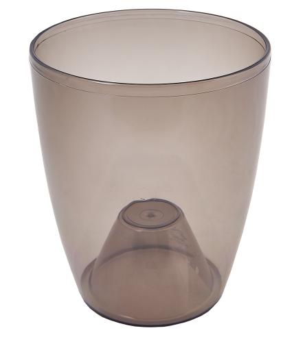 Кашпо для орхидей 20*24см прозрачный /тонированный/
