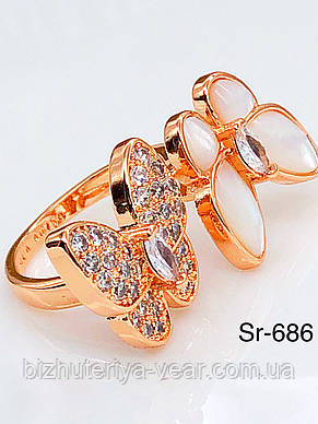 КОЛЬЦО STAINLEES STEEL(ПРЕМИУМ) Sr-687(8) open, фото 2