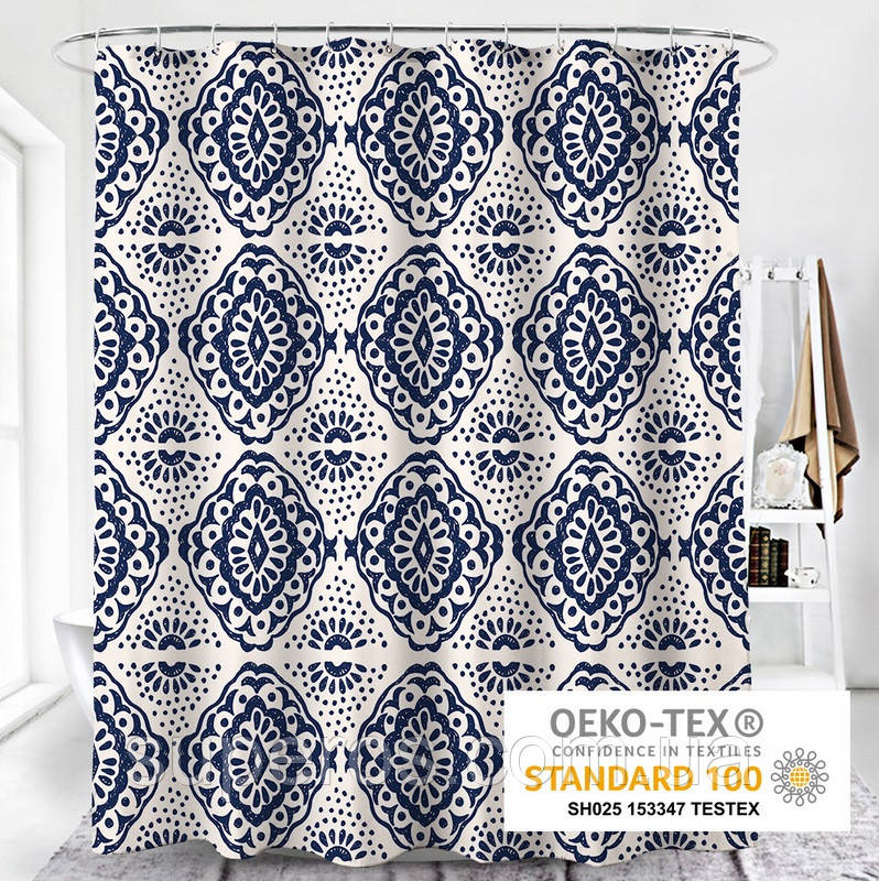 Тканевая шторка для ванной и душа 180х200 см Sophistication