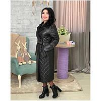 Куртка пальто женская длинная стеганая 466731 р 42-56
