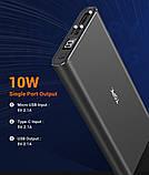 Повербанк Topk УМБ Power Bank 1xUSB 10000 mAh серый microUSB, USB Type-C, USB, фото 4
