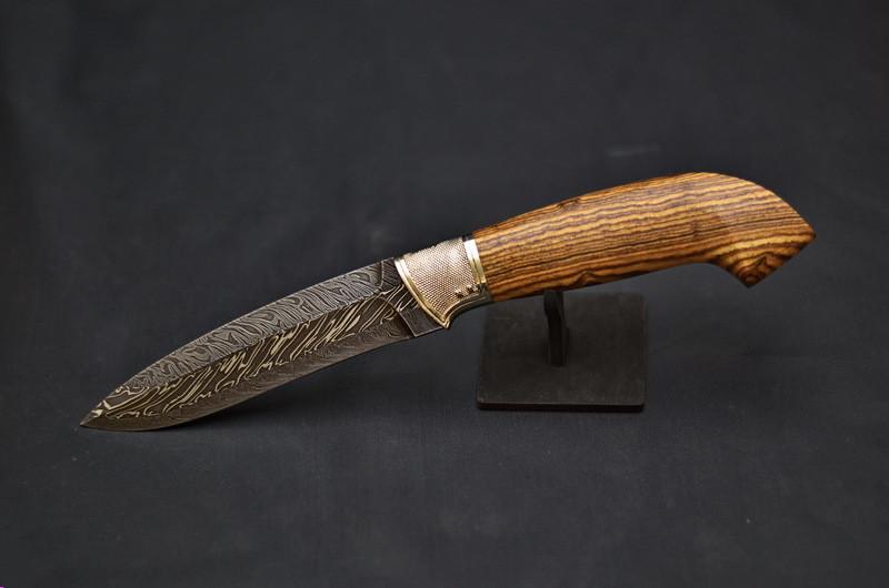 """Нож ручной работы в охотничьем стиле """"Защитник"""", авторский нож украинских мастеров"""