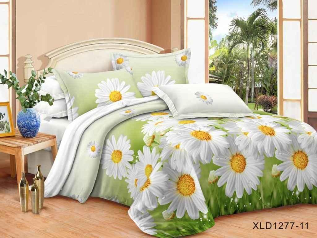 Комплект постільної білизни 2 спальний 70*70 полібязь 3Д арт.69 ТМ Constancy