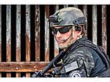 Очки защитные ESS Rollbar в черной и песочной оправе (реплика), фото 3