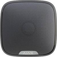Ajax StreetSiren Вулична сирена сповіщає про небезпеку за допомогою звуку і світлової індикації, чорна