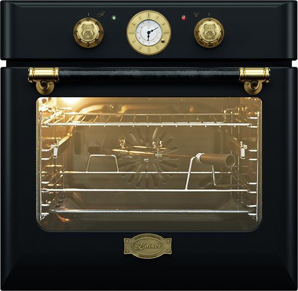 Вбудовувана електрична духова шафа Kaiser EH6424BE - Шx60см./67л/8 режимів/ретро/чорний