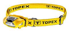 Ліхтарик налобний TOPEX 70 люменів, батарейки, 1xAA
