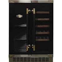 Вбудовувана винна шафа Kaiser K64800AD - 82см/2 зони-для вина та пива/20+46/чорний