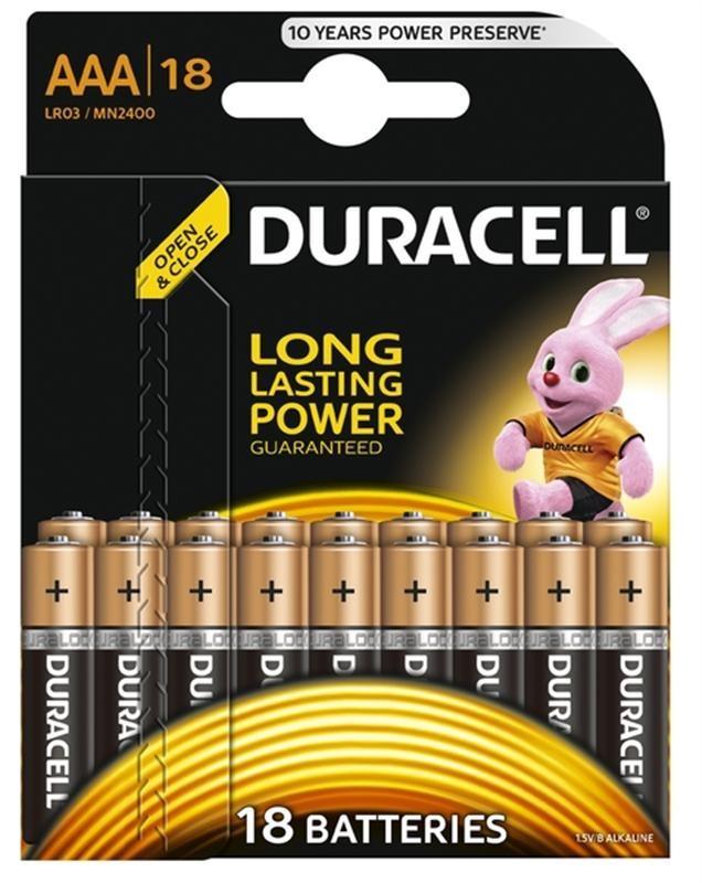 Батарейка Duracell Basic AAA/LR03 BL 18шт