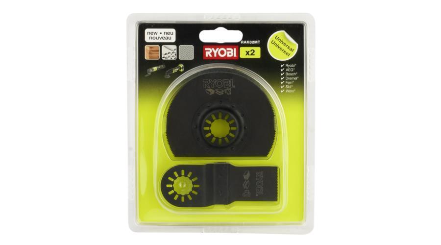 Набір полотен Ryobi для багатофункціонального інструменту RAK02MT