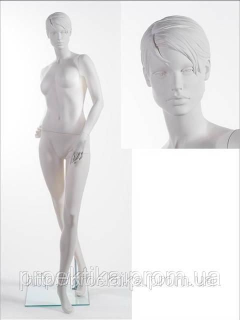 Манекен женский WA-07 head 1 (белый RAL 9010)
