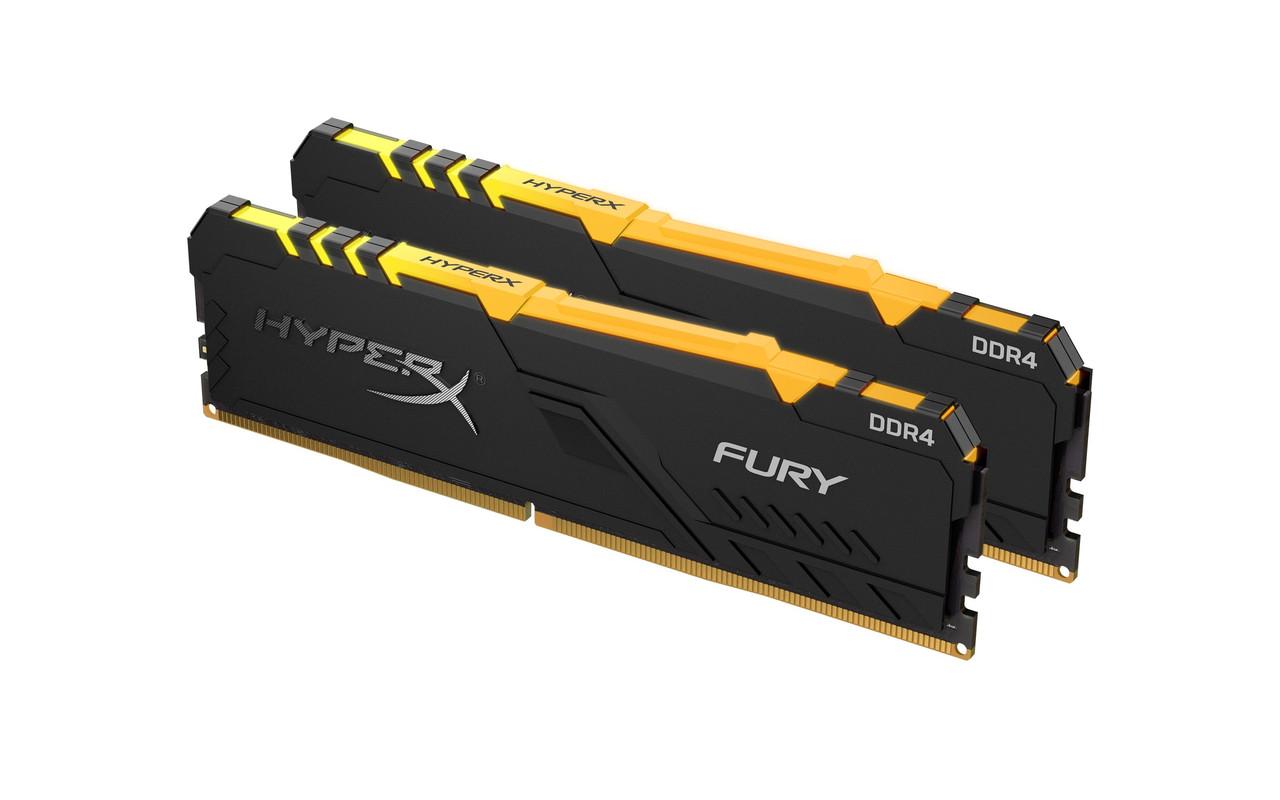 Модуль пам'яті DDR4 2х16GB/2666 Kingston HyperX Fury RGB (HX426C16FB3AK2/32)