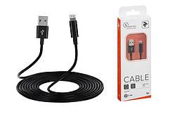 Кабель 2E USB 2.4 to Lightning Cable Molding Type, 1m, Black