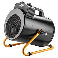Обігрівач теплова гармата NEO TOOLS 5 кВт, 380В, регулювання, нерж. сталь, IPX4, 366 м3 / год