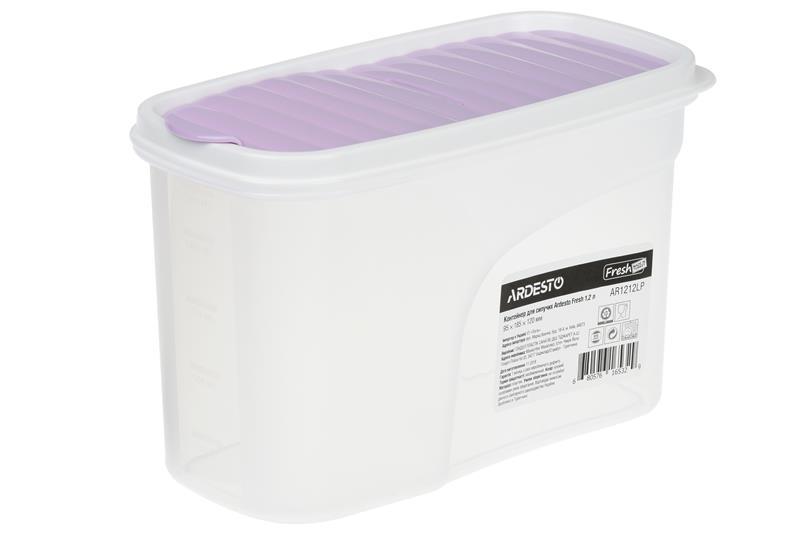 Контейнер для сипучих Ardesto Fresh 1.2 л, ліловий, пластик