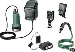 Насос Bosch Garden Pump акумуляторний, 18В, 2000 л/р, до 30хв