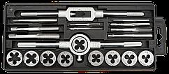 Плашки та мiтчики TOPEX, M3 - M12, набiр 20 шт.*1 уп.