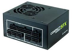 Блок живлення CHIEFTEC RETAIL Compact CSN-650C, 8cm fan,a/PFC,24+8,3 xPeripheral,4xSATA,2xPCIe,SFX