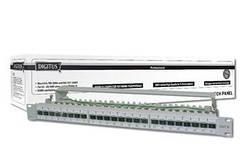 Патч-панель Digitus 19' 1U STP Cat.6а 24 порти, зібрана